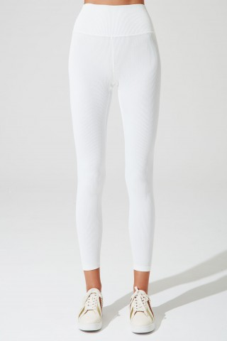 High-waist Ribbed Legging