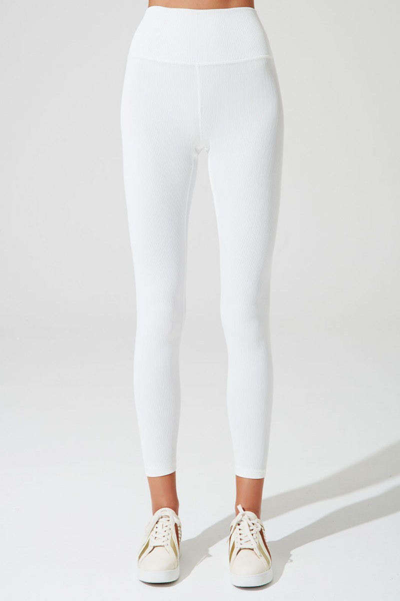 7/8 High-waist Ribbed Legging